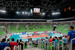During volleyball match between National teams of Slovenia and Poland in 4th Qualification game of CEV European Championship 2015 on May 23, 2014 in Arena Stozice, Ljubljana, Slovenia. Photo by Urban Urbanc / Sportida