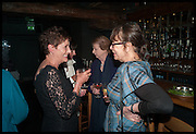 ALEXANDRA PRINGLE; SELINA HASTINGS; VIRGINIA IRONSIDE, Lynn Barber celebrates her 70th birthday and the publiction of ' A Curious Career. Hixter, 9a Devonshire Sq. London. 8 May 2014.