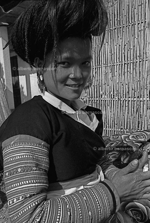 Vietnam, Son La province:  flower H'mong minorities