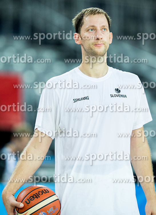 Sasa Zagorac during practice session of Slovenia National Basketball Team 1 day prior to the FIBA Europe Eurobasket 2015, on September 4, 2015, in Arena Zagreb, Croatia. Photo by Vid Ponikvar / Sportida