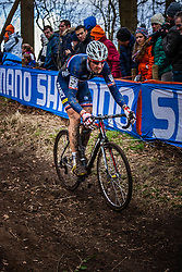 Nicolas BAZIN (23,FRA), 5th lap at Men UCI CX World Championships - Hoogerheide, The Netherlands - 2nd February 2014 - Photo by Pim Nijland / Peloton Photos