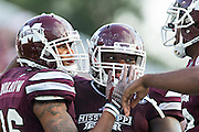 STARKVILLE, MS - SEPTEMBER 19:  Joe Morrow #16 of the Mississippi State Bulldogs celebrates after a big play against the Northwestern State Demons at Davis Wade Stadium on September 19, 2015 in Starkville, Mississippi.  The Bulldogs defeated the Demons 62-13.  (Photo by Wesley Hitt/Getty Images) *** Local Caption *** Joe Morrow