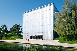 Exterior view of Volkswagen Pavilion at Autostadt in Wolfsburg , Germany