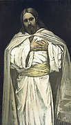 Our Lord Jesus Christ.   Illustration by J.J.Tissot for his 'Life of Our Saviour Jesus Christ', 1897. Oleograph.