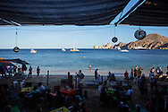 The beach side tourist scene in Cabo San Lucas, Baja Sur California, Mexico.