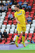 AFC Wimbledon midfielder Chris Whelpdale (11) in action during the Pre-Season Friendly match between Woking and AFC Wimbledon at the Kingfield Stadium, Woking, United Kingdom on 29 July 2016. Photo by Stuart Butcher.