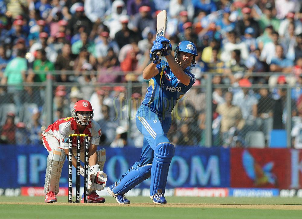James Franklin of Mumbai Indians bats during match 28 of the Indian Premier League ( IPL) 2012  between The Mumbai Indians and the Kings X1 Punjab held at the Wankhede Stadium in Mumbai on the 22nd April 2012..Photo by Pal Pillai/IPL/SPORTZPICS.