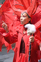 Young woman in fancy dress at the Nottingham City Carnival; 2007,