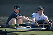 Putney, London,  Tideway Week, Championship Course. River Thames,  Oxford UBC. left. 3: Oliver Cook and 4: Joshua Bugaski, <br /> Tuesday  28/03/2017<br /> [Mandatory Credit; Credit: Peter Spurrier/Intersport Images.com ]