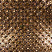 Ceiling of the Pine Cone Room in the Alcazar in Segovia, Spain.
