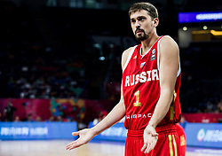 Aleksei Shved of Russia during basketball match between National Teams  Spain and Russia at Day 18 in 3rd place match of the FIBA EuroBasket 2017 at Sinan Erdem Dome in Istanbul, Turkey on September 17, 2017. Photo by Vid Ponikvar / Sportida