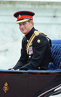 Prince Harry,Trooping the Colour, Buckingham Palace, London UK, 14 June 2014, Photo by Mike Webster