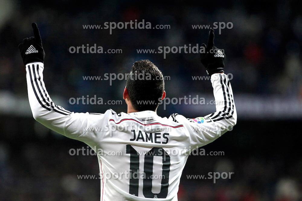 04.02.2015, Estadio Santiago Bernabeu, Madrid, ESP, Primera Division, Real Madrid vs FC Sevilla, 21. Runde, im Bild James of Real Madrid // during the Spanish Primera Division 21th round match between Real Madrid CF and FC Sevilla at the Estadio Santiago Bernabeu in Madrid, Spain on 2015/02/04. EXPA Pictures &copy; 2015, PhotoCredit: EXPA/ Alterphotos/ CARO MARIN<br /> <br /> *****ATTENTION - OUT of ESP, SUI*****