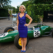 Hurlingham Club ,London, England, UK. 10th July, 2017. Emily Haig is a soprano singing  attend The Grand Prix Ball attracted a host of star-studded celebrity guests last night at Hurlingham Club , including Formula 1 drivers as well as iconic Formula 1 cars. Guests mingled with the elite whist being enterained with live performances by award winning UK artists and DJs ahead of the British Grand Prix at Silverstone.