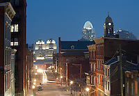 View of Cincinnati at night from Over-the-Rhine