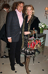 THEO & LOUISE FENNELL at a party to celebrate the opening of Jasper Conran's new shop and HQ at 36 Sackville Street, London W1 on 15th February 2005.<br /><br />NON EXCLUSIVE - WORLD RIGHTS