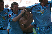 Ross Wallace of Sunderland celebrates his goal against Derby