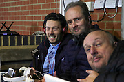 AFC Wimbledon defender Will Nightingale (5) in the press box during the EFL Sky Bet League 1 match between AFC Wimbledon and Ipswich Town at the Cherry Red Records Stadium, Kingston, England on 11 February 2020.