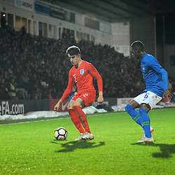 TELFORD COPYRIGHT MIKE SHERIDAN 16/10/2018 - Valentino Livramento (Chelsea) during the international friendly fixture between England u17 and Brazil u17 at the Bucks Head Stadium, Telford.