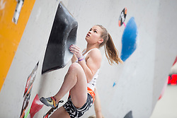 Vita Lukan (SLO) at Semifinal of Climbing event - Triglav the Rock Ljubljana 2018, on May 19, 2018 in Congress Square, Ljubljana, Slovenia. Photo by Urban Urbanc / Sportida