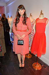 LILAH PARSONS at the Cointreau launch for Yumi by Lilah Parsons SS/16 collection held at 15 Bateman Street, London on 1st December 2015