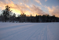 Snowmobile trails in Gilford.  Karen Bobotas for the Laconia Daily Sun