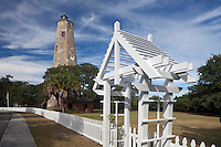 NC00563-00...NORTH CAROLINA - Old Baldy Lighthouse on Bald Head Island at the mouth of the Cape Fear River.