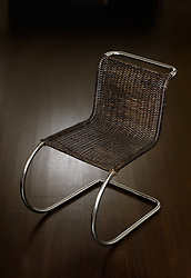 Side Chair, designed by Mies Van Der Rohe (c. 1932)Mid century modern chair