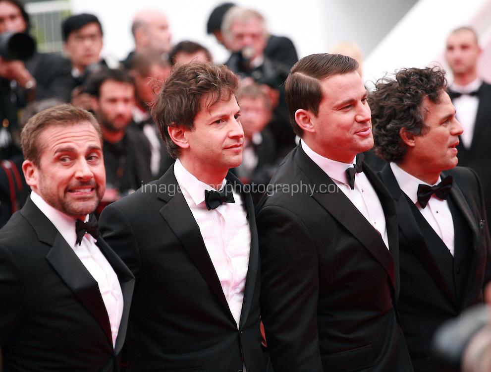Steve Carell, Bennett Miller,  Channing Tatum, Mark Ruffalo, at the Foxcatcher gala screening red carpet at the 67th Cannes Film Festival France. Monday 19th May 2014 in Cannes Film Festival, France.