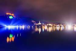 Over 5,500 people came together to form an Olympic Circle of Safety in an attempt to get into the Guinness Book of World Records by holding hands around Lake Bled while simultaneously lighting up glowsticks, on December 30, 2015 in Bled, Slovenia. Photo by Gregor Podrekar / Sportida