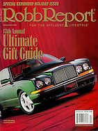 Magazine Cover - Robb report Green Bentley