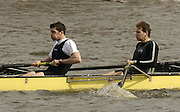 Chiswick, LONDON, ENGLAND, 25.03.2006,  Molesey BC, left Greg Searle and Jonny Searle,  start the 2006 Head of the River Race. Mortlake to Putney. © Peter Spurrier/Intersport-images.com. 2006 Men's Head of the River Race, Rowing Course: River Thames, Championship course, Putney to Mortlake 4.25 Miles 2006 Men's Head of the River Race, Rowing Course: River Thames, Championship course, Putney to Mortlake 4.25 Miles
