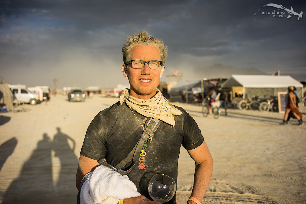 Trey Ratcliff, after a long day of shooting in the dust storms. Burning Man 2014.