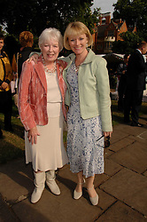 Left to right, actress JUNE WHITFIELD and her daughter actress SUZY QUINN at the Lady Taverners Westminster Abbey Garden Party, The College Garden, Westminster Abbey, London SW1 on 10th July 2007.<br /><br />NON EXCLUSIVE - WORLD RIGHTS