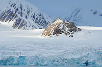 Nunatak<br /> Smeerenburg glacier<br /> Smeerenburg fjord<br /> Svalbard<br /> Norway