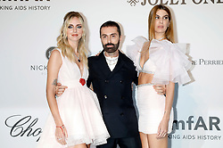 May 23, 2019 - Antibes, Alpes-Maritimes, Frankreich - Chiara Ferragni, Giambattista Valli and Bianca Brandolini d'Adda attending the 26th amfAR's Cinema Against Aids Gala during the 72nd Cannes Film Festival at Hotel du Cap-Eden-Roc on May 23, 2019 in Antibes (Credit Image: © Future-Image via ZUMA Press)