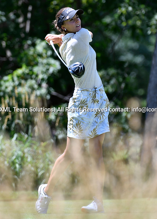 OLYMPIA FIELDS, IL - JULY 01: Klara Spilkova of Czech Republic plays the ball from the fifth tee during the third round of the 2017 KMPG PGA Championship at Olympia Fields on July 1, 2017 in Olympia Fields, Illinois. (Photo by Quinn Harris/Icon Sportswire)