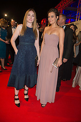 Left to right, ROSIE MARCEL and CAMILLA ARFWEDSON at the Battersea Dogs & Cats Home's Collars & Coats Gala Ball held at Battersea Evolution, Battersea Park, London on 12th November 2015.