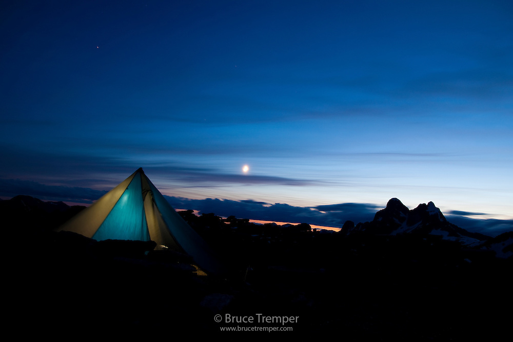 Camping near Gimli Peak, Valhalla Provincial Park, British Columbia