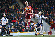 Bradford City forward Steven Davies (24) scores a goal and celebrates to make the score 1-0 during the Sky Bet League 1 match between Bradford City and Millwall at the Coral Windows Stadium, Bradford, England on 26 March 2016. Photo by Simon Davies.