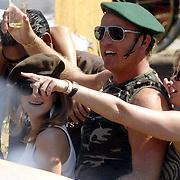 NLD/Amsterdam/20070804 - Gaypride Canalparade 2007, Gordon Heuckeroth met groene baret