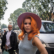 Terzo giorno della Settimana della Moda a Milano edizione 2013: Paloma Faith in attesa della sfilata di Armani<br /> <br /> Third day of Milan fashion week 2013 edition: Paloma Faith waiting the Armani fashion show.