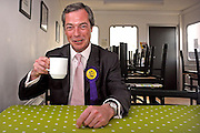"""24/04/2010 Nigel Farage, MEP and UKIP Prospective Parliamentary Candidate for Buckingham pictured at Turweston Aerodrome prior to  flying over the constituency in a plane towing a banner containing the words 'Vote for your country - Vote UKIP'..Mr Farage said """"it is going to give me great pleasure to fly over Blair Towers whilst towing my banner' a reference to Tony Blair's country home."""