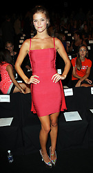 Nina Agdal the Herve Leger show at New York Fashion Week for Spring/ Summer 2013 , Saturday, 8th September 2012. Photo by: Stephen Lock / i-Images