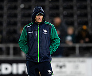 Head Coach Andy Friend of Connacht during the pre match warm up<br /> <br /> Photographer Simon King/Replay Images<br /> <br /> Guinness PRO14 Round 6 - Ospreys v Connacht - Saturday 2nd November 2019 - Liberty Stadium - Swansea<br /> <br /> World Copyright © Replay Images . All rights reserved. info@replayimages.co.uk - http://replayimages.co.uk