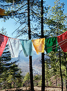 Prayer flags above the Paro Valley.