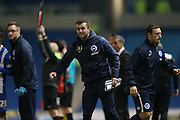 Brighton assistant manager Nathan Jones during the Sky Bet Championship match between Brighton and Hove Albion and Bournemouth at the American Express Community Stadium, Brighton and Hove, England on 10 April 2015.