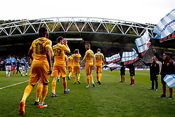 Preston North End walk out on to the pitch at the John Smith's Stadium - Mandatory by-line: Matt McNulty/JMP - 14/04/2017 - FOOTBALL - The John Smith's Stadium - Huddersfield, England - Huddersfield Town v Preston North End - Sky Bet Championship
