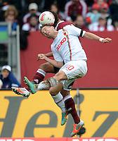 FUSSBALL   1. BUNDESLIGA  SAISON 2012/2013   8. Spieltag 1. FC Nuernberg - FC Augsburg       21.10.2012 Daniel Baier (FC Augsburg)