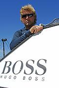 Hugo Boss skipper Alex Thomson (GBR). Barcelona World Race. 29/12/2007